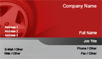 Red Car Tire Business Card Template